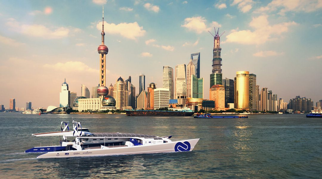 The first hydrogen powered boat that will sail around the world